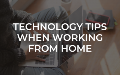 Technology tips for working from home